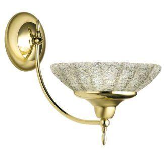Złoty kinkiet Onyx - klasyczny, szkło kryształowe