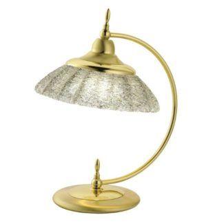 Złota lampa nocna Onyx - kryształowe szkło