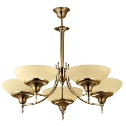 złoty klasyczny żyrandol szklane klosze