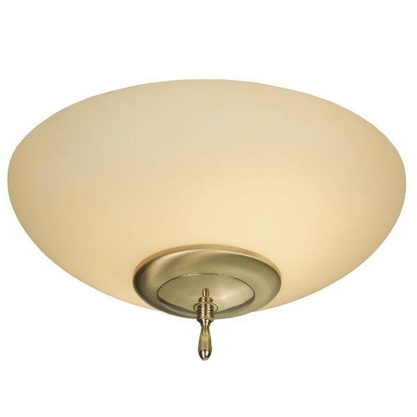 Złoty plafon Onyx - mleczny klosz, klasyczny