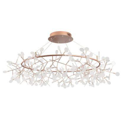 złote gałązki lampa wisząca art deco
