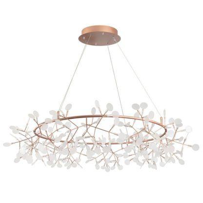 dekoracyjna lampa wisząca miedziane gałązki