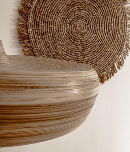 bambusowa lampa wisząca boho