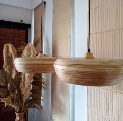 bambusowe lampy nad stół naturalne
