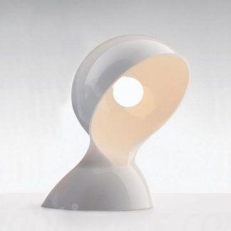Biała lampa stołowa Dalu Tavolo - futurystyczna forma