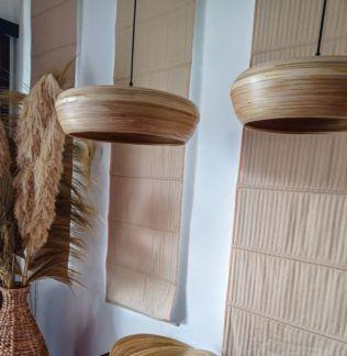 Lampa wisząca Wafa S - bambusowa