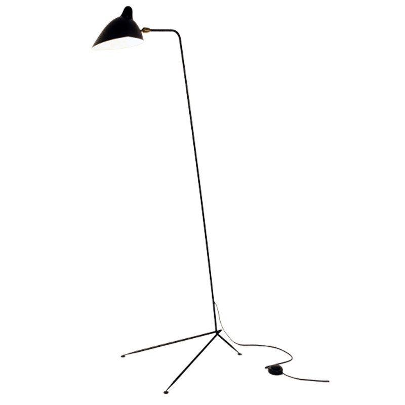 czarna lampa podłogowa nowoczesna