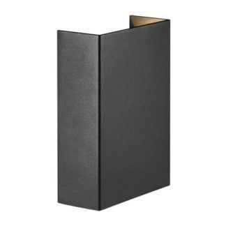 Nowoczesny kinkiet Fold 10 - Nordlux - czarny, LED, IP54