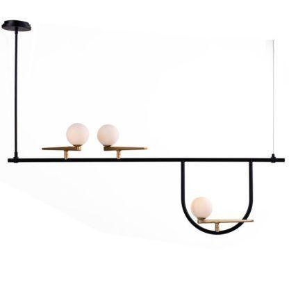 designerska lampa wisząca łuki