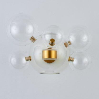 designerski kinkiet led szklane kule złoty