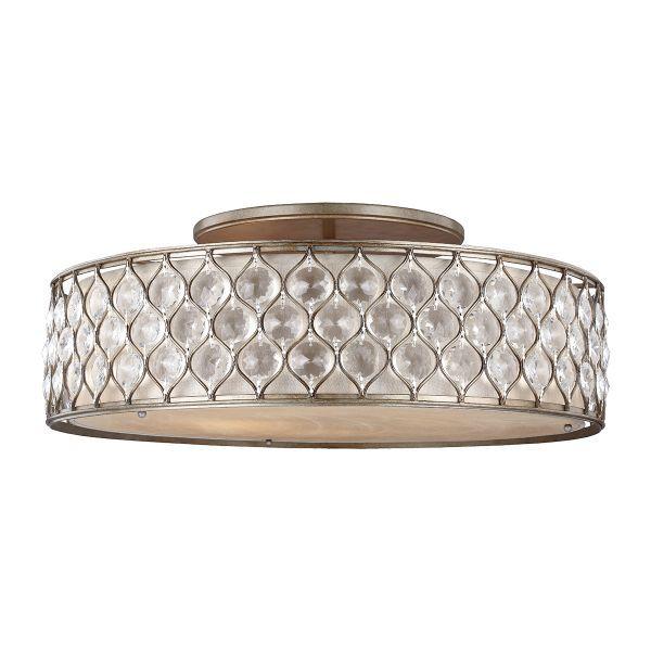 duża lampa sufitowa z kryształami
