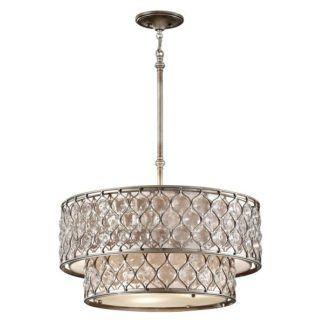 Kryształowy żyrandol Bella - polerowany srebrny
