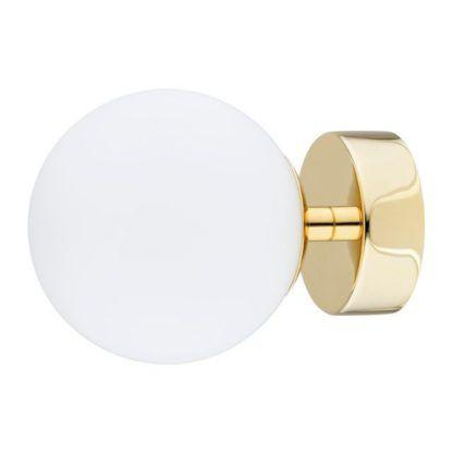 złoty kinkiet do łazienki