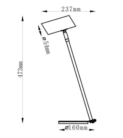 Czarna lampa biurkowa Futuro - regulowany klosz