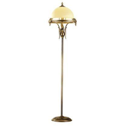 klasyczna lampa podłogowa patyna