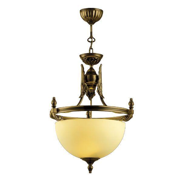 Lampa wisząca Cordoba I - duży klosz, patyna połysk
