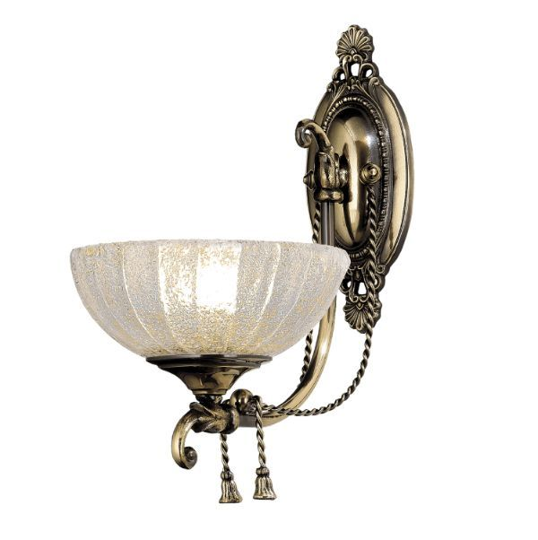 klasyczny kinkiet ze szklanym kloszem
