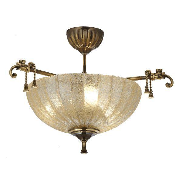 lampa sufitowa ze szklanym kloszem