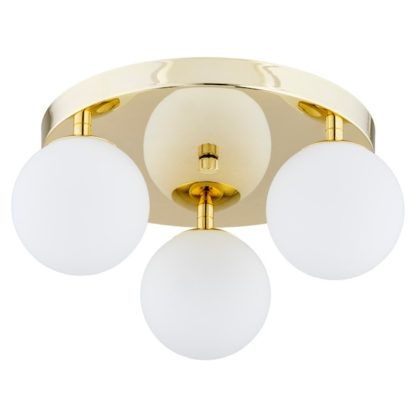 lampa sufitowa złota do łazienki - klosze kule