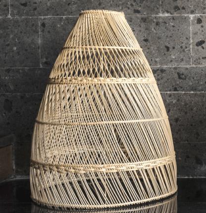 lampa wiklinowa do salonu - lampa z rattanu w stylu boho