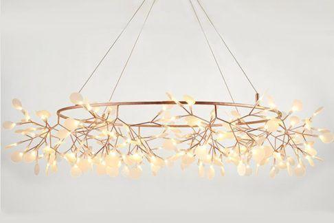 Dekoracyjna lampa LED Botanic Chic - miedziana, XL
