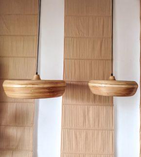 Lampa wisząca Wafa M - bambusowy klosz