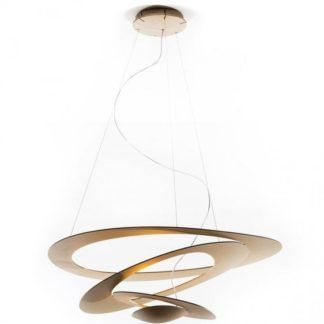 Złota lampa wisząca Pirce Mini - LED, nowoczesna