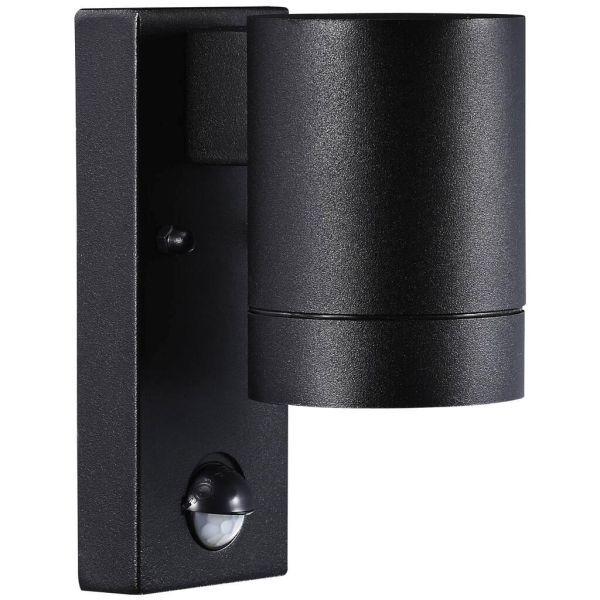 czarny kinkiet elewacyjny czujnik