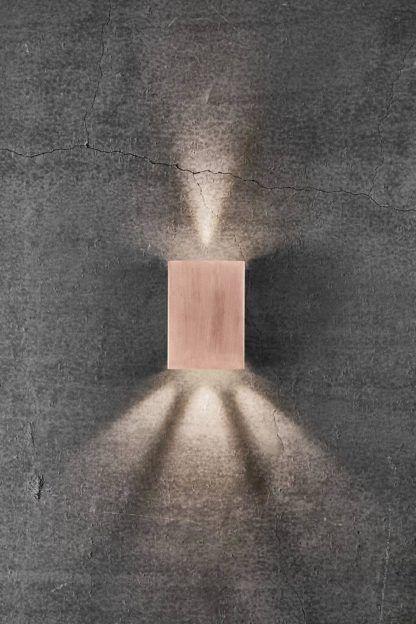 miedziany kinkiet led lampa zewnętrzna