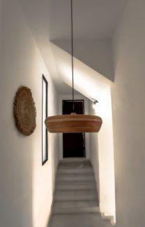 Bambusowa lampa wisząca Wafa L - naturalna