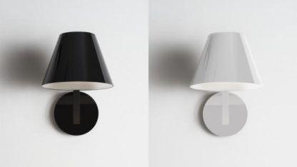 nowoczesny kinkiet biały i czarny