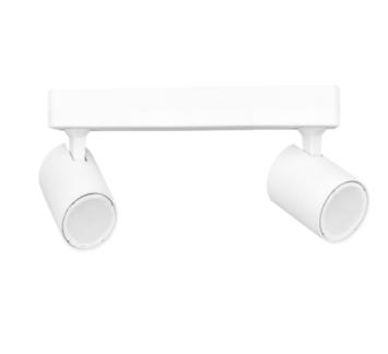 Biała lampa sufitowa Snow - dwa reflektory