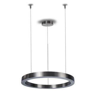 Lampa wisząca Circle - LED, srebrna, 60cm