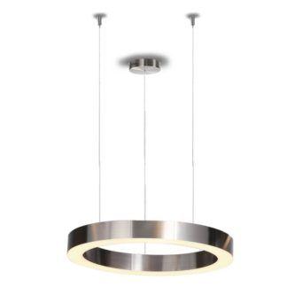 Lampa wisząca Circle - LED, srebrna, 40cm