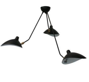 Czarna lampa wisząca Crane - 3 regulowane klosze