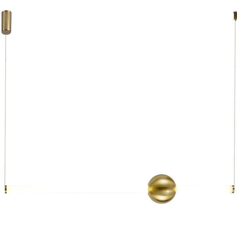 pozioma lampa wisząca led złota oprawa