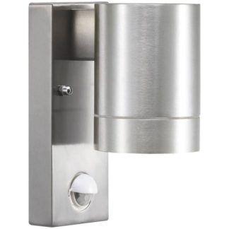 Kinkiet zewnętrzny Tin Maxi - srebrny, czujnik ruchu