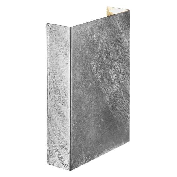 srebrny kinkiet prostokąt