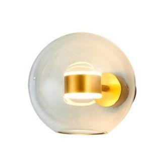 Szklany kinkiet Bubbles - złoty środek, LED