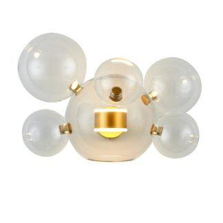 Lampa ścienna Bubbles 5+1 - złota baza, LED