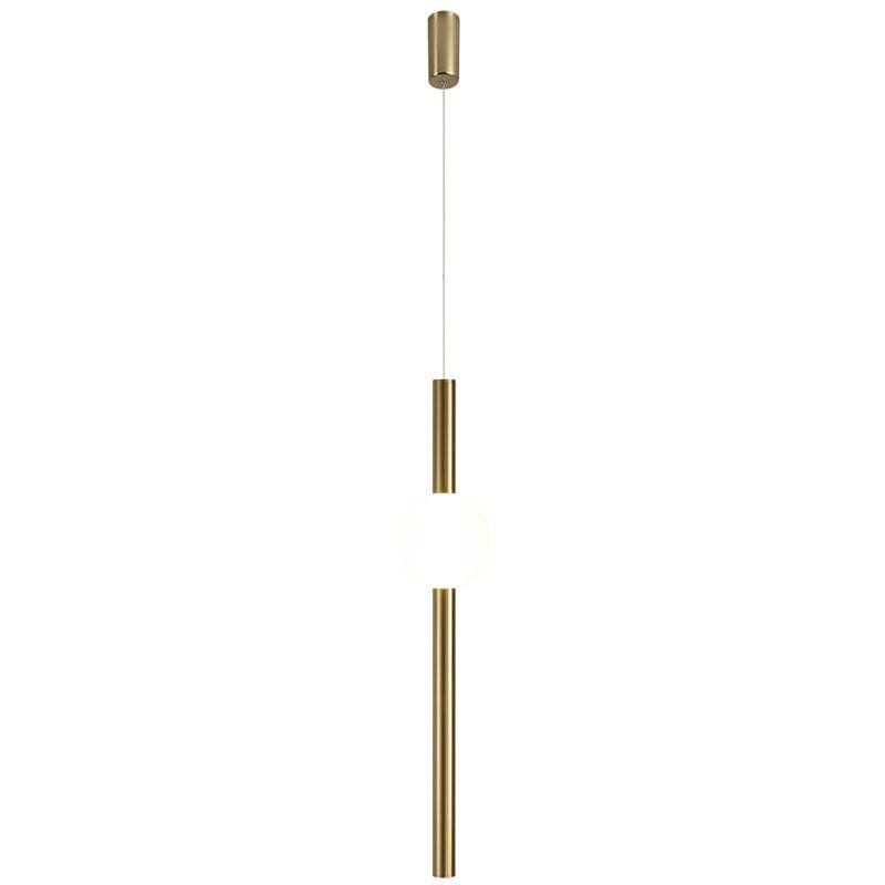 złota tuba led nowoczesna lampa 63