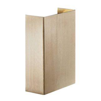 Nowoczesny kinkiet Fold 10 - Nordlux - złoty, IP54