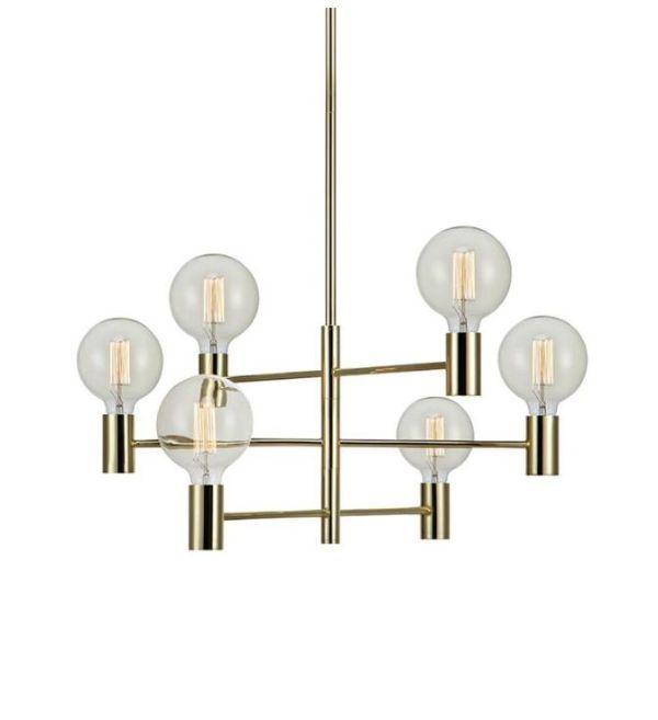 srebrna loftowa lampa wisząca