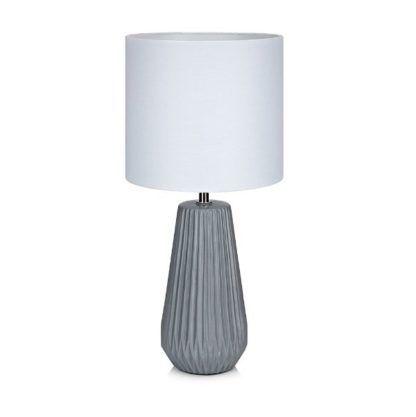 szara lampa stołowa z porcelany
