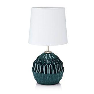 Lampa stołowa Lora - ceramiczna podstawa, biały abażur