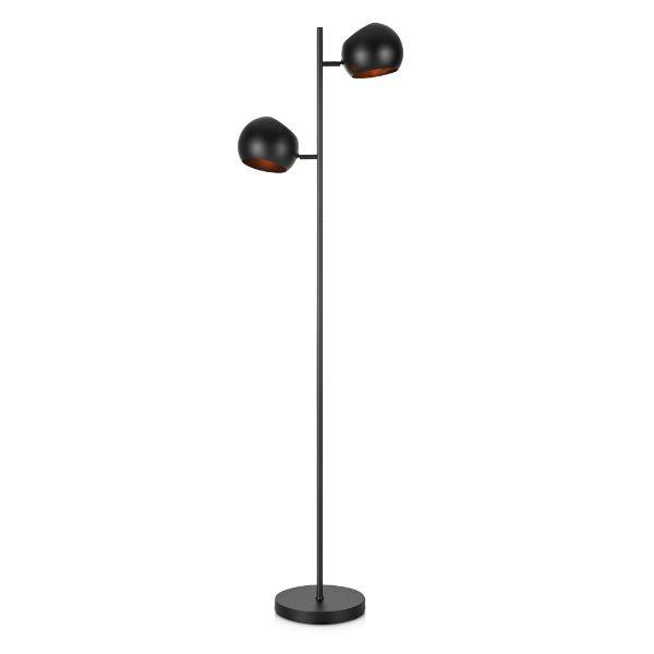 Podwójna lampa podłogowa Edgar - czarna