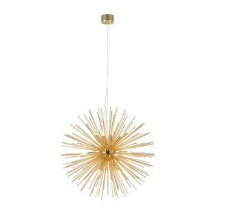 Efektowna lampa wisząca Soleil - złota, wymienne żarówki