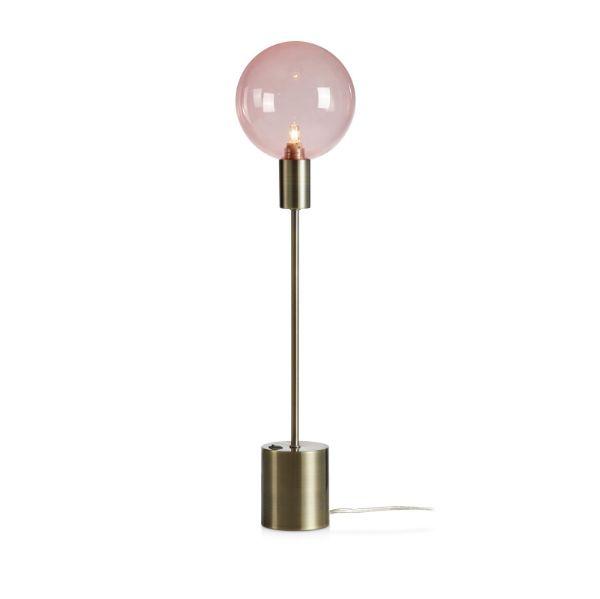 Nowoczesna lampa stołowa Uno - patyna, róż