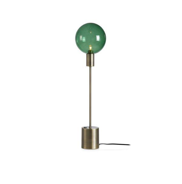 zielona lampa stołowa