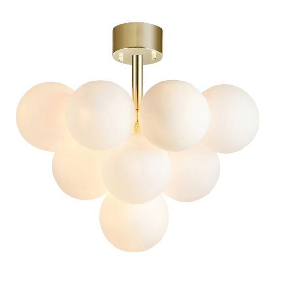 złota lampa sufitowa szklane klosze